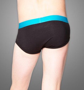 Fitted Brief – single pack – black/blue