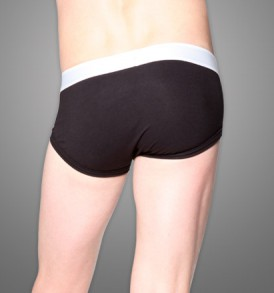 Fitted Brief – single pack – black/white
