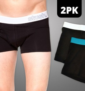 Mens Underwear Flyfront Trunk - 2 pack