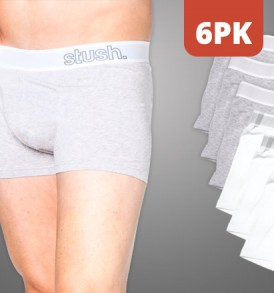 Mens Underwear Flyfront Trunk - 6 pack