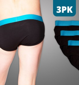 Fitted Brief – 3PK – black/blue