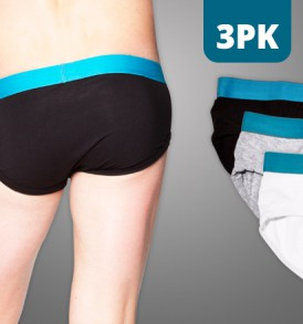Fitted Brief – 3PK – black/grey/white