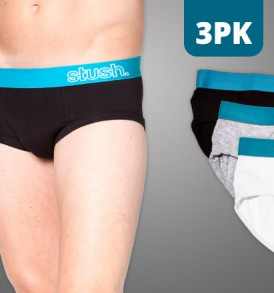 Mens Underwear Fitted Brief - 3 pack