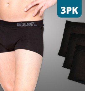 Mens Underwear Softband Trunk - 3 pack