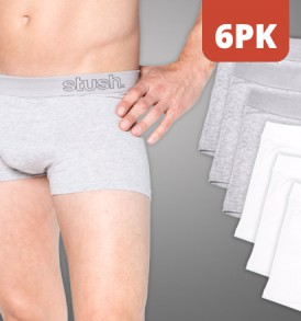 Mens Underwear Softband Trunk - 6 pack